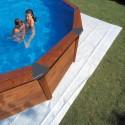 Manta protectora de suelo piscina GRE ovalada