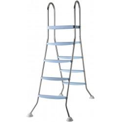 Escalera Inox 142cm 2×4 peldaños + plataforma