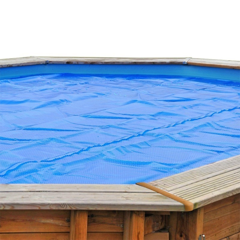 Cubierta verano piscina gre redonda madera 400 micrones for Cubierta piscina desmontable