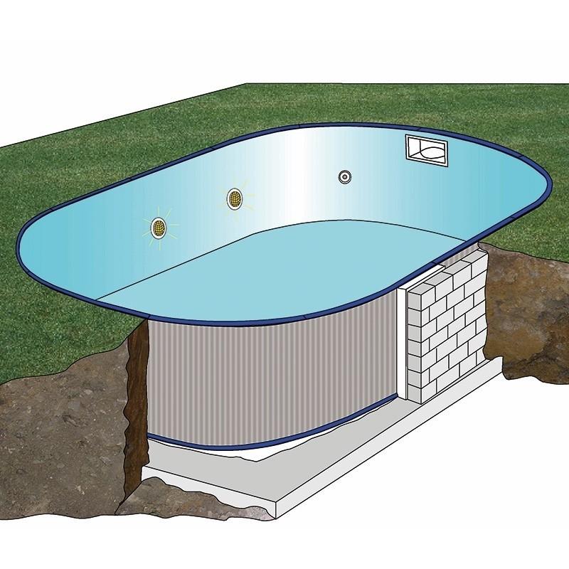 Piscinas enterradas ovaladas sumatra altura 120 piscinasbcn for Liner piscinas desmontables