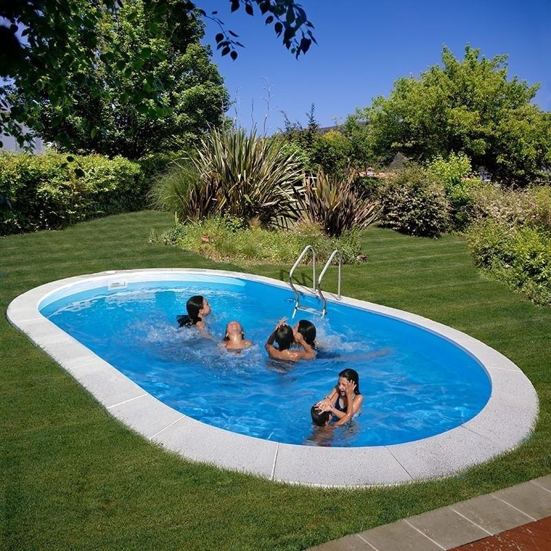 Piscinas enterradas ovalada moorea piscinasbcn for Piscinas enterradas