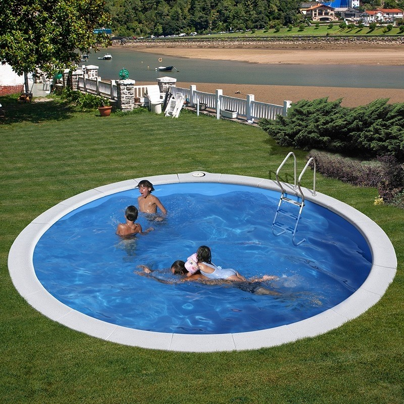 Piscina gre enterrada redonda moorea kpe4259m for Liner piscinas gre
