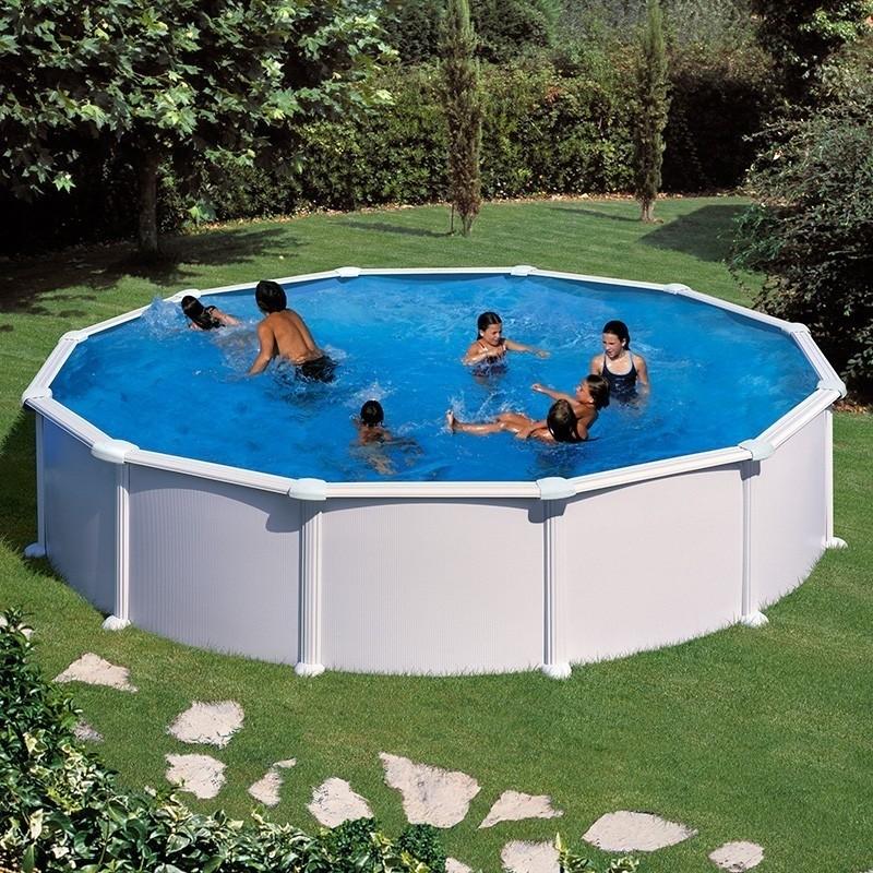 Piscina desmontable de acero redonda altura 132 cm gre for Liner piscinas gre