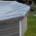 Cubierta de invierno piscina GRE ovalada Composite 580 g/m²
