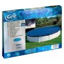 Cubierta de invierno para piscina desmontable GRE redonda