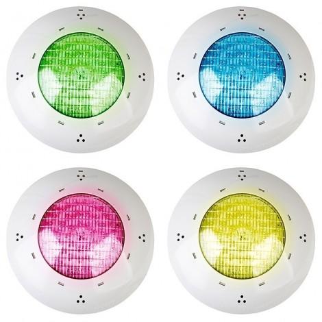 Proyector 144 LEDs color RGB piscina enterrada de hormigón GRE PLCH144