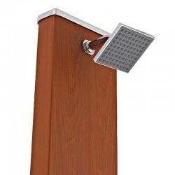 Ducha solar cuadrada aspecto madera 32 litros GRE DSALC32W
