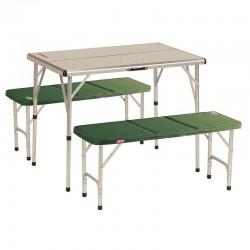 Mesa con bancos Coleman para 4 personas de Aluminio