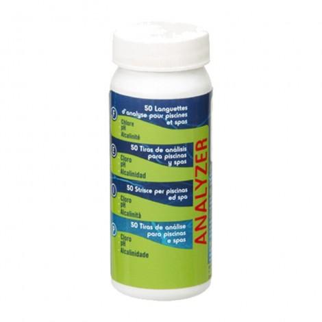 Tiras de análisis cloro pH alcalinidad GRE 40068