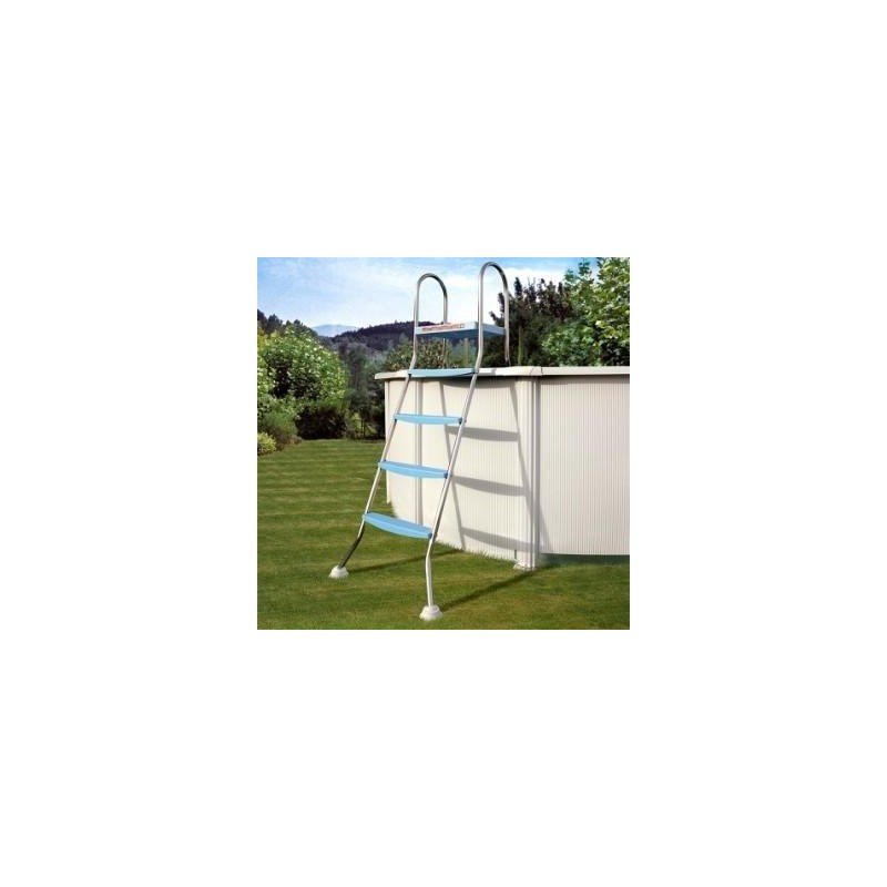 Escalera acero inoxidable piscina 142cm plataforma gre for Escaleras para piscinas gre