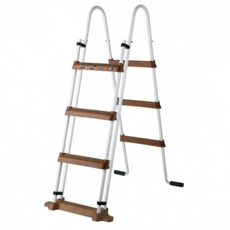 Escalera de seguridad 120 cm marrón GRE ES1100WP