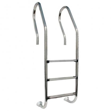 Escalera acero inoxidable para piscina madera GRE 126673