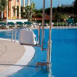Elevador Acuático Hidráulico portátil METALU para acceso a piscina discapacitados