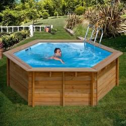 Piscina de madera GRE redonda Vanille Wooden Pool GRE 790083