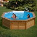 Piscina de madera GRE redonda Violette Wooden Pool GRE 790085
