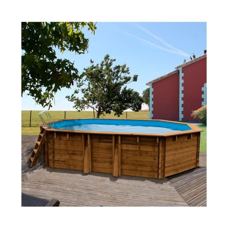 Piscina desmontable de madera maciza gre safran gre 783337e for Piscinas gre barcelona