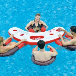 Mesa y sillones acuáticos hinchables para piscina Fashion Water Bar
