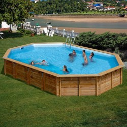 Piscina de madera GRE ovalada Sevilla Wooden Pool GRE 790091