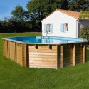 Piscina de madera GRE ovalada Vermela Wooden Pool GRE 790090
