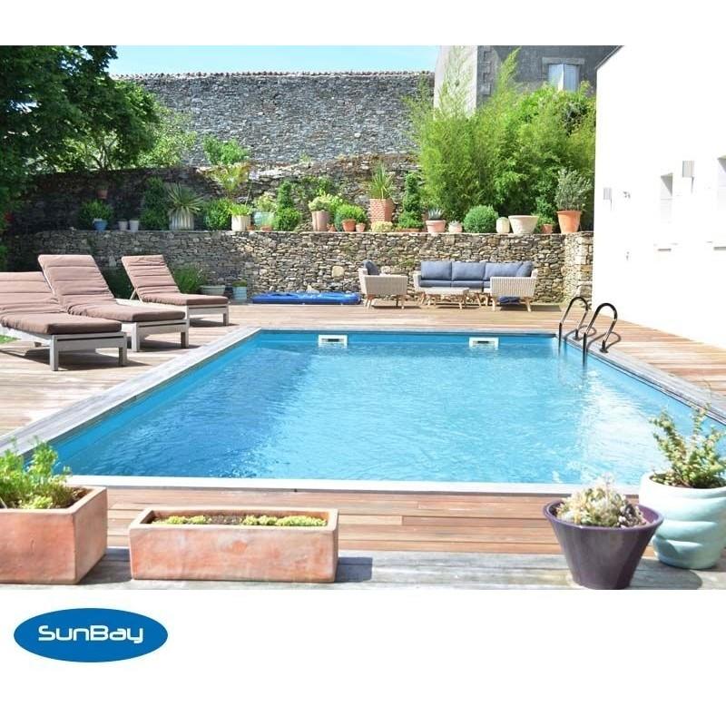 Piscina de madera gre rectangular cardamon wooden pool gre for Piscinas gre barcelona