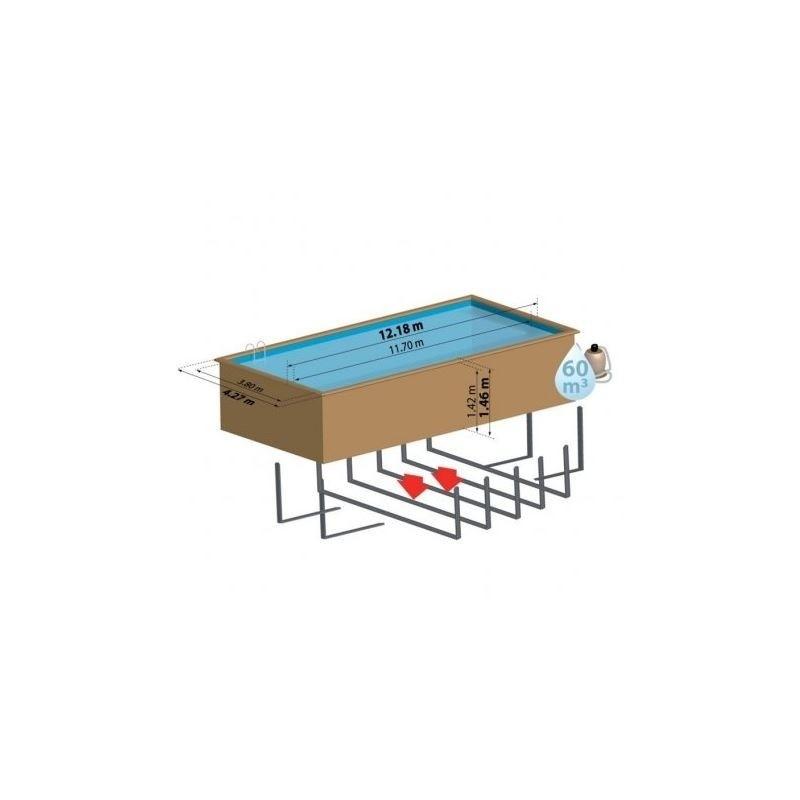 Piscina de madera gre rectangular cardamon wooden pool gre for Piscina madera rectangular