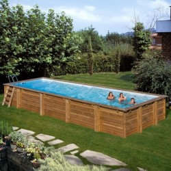 Piscina de madera GRE rectangular Mint Wooden Pool GRE 788032