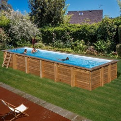 Piscina de madera GRE rectangular Anise Wooden Pool GRE 788031