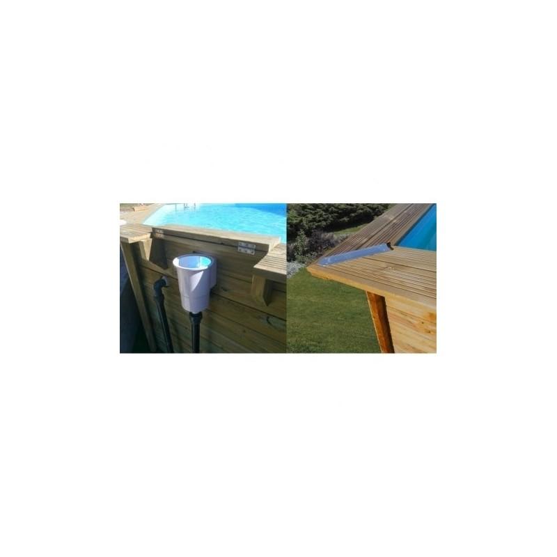 Piscina de madera rectangular gre modelo evora 790094 - Piscina madera rectangular ...