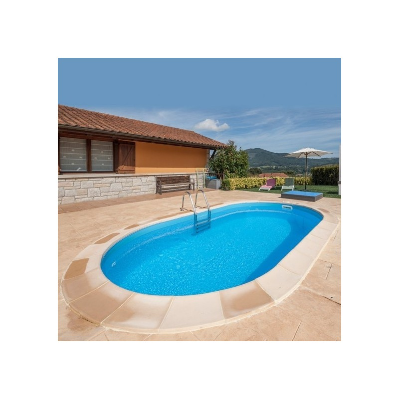Piscina enterrada gre ovalada madagascar profundidad 150cm for Liner piscinas gre