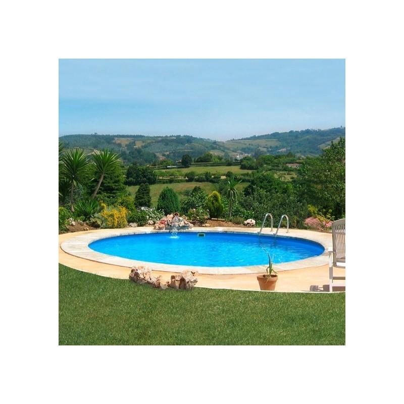 Piscina enterrada gre redonda madagascar profundidad 150 for Liner piscinas gre