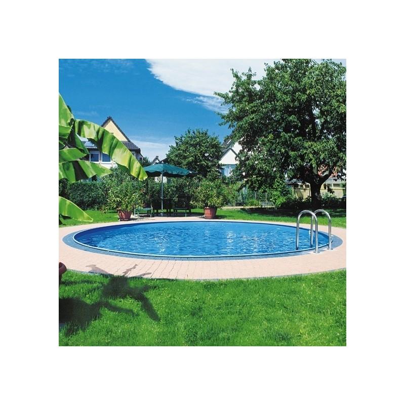 Piscina gre enterrada redonda sumatra profundidad 120 cm for Liner piscinas gre