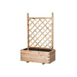 Jardinera rectangular con celosía recta 48 x 83 x 150 cm