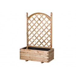 Jardinera rectangular con celosía de arco 48 x 83 x 150 cm