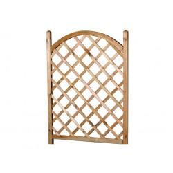 Celosía de madera en arco para jardinera 48 x 83 x 150 cm