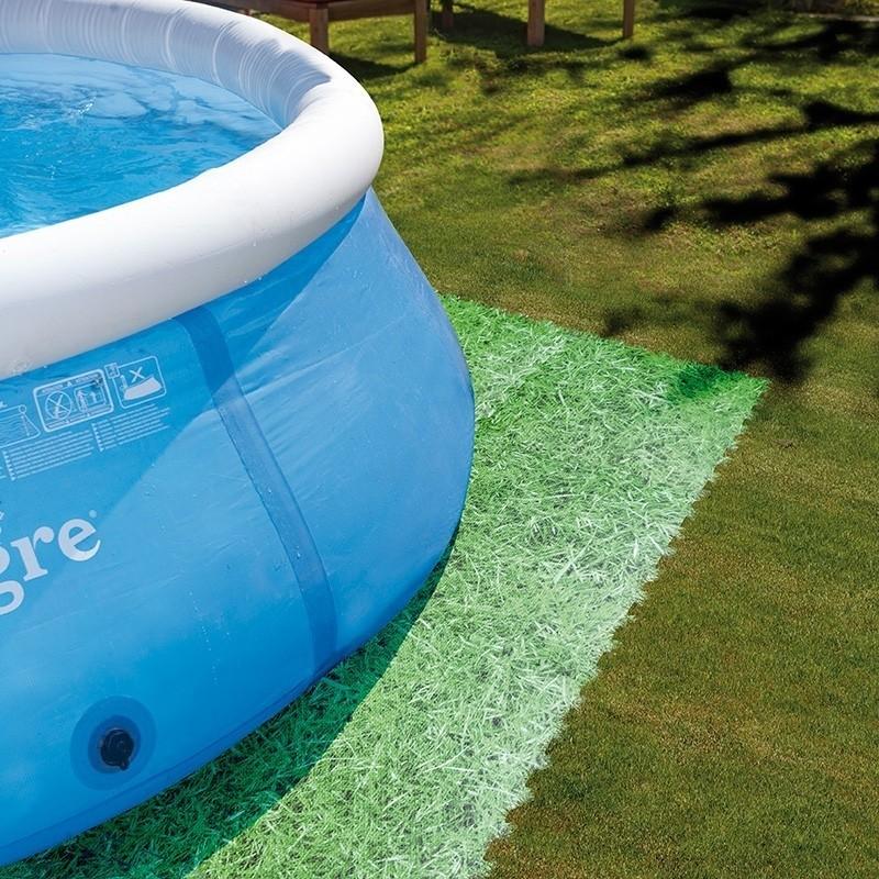 Protector de suelo piscina gre mpf509gr color c sped - Suelo para piscina desmontable ...