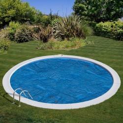 Cubierta isotérmica para piscina enterrada Gre redonda 300 micrones