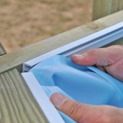 Liner beige para piscinas de madera Gre Wooden