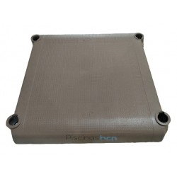 Plataforma marrón escalera piscina GRE 272900002MG