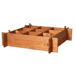 Cajonera de cultivo huerto urbano en madera de pino 100 cm