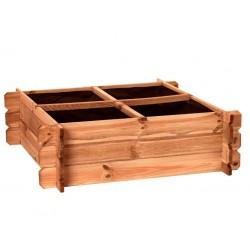 Caja de cultivo huerto urbano en madera de pino 80 cm