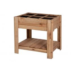 Mesa de cultivo huerto urbano madera de pino Germin 60