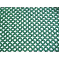 Pack de 6 celosía de PVC 18 mm 1x2 m color verde