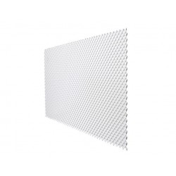 Pack de 6 celosía de PVC 18 mm 1x2 m color blanco