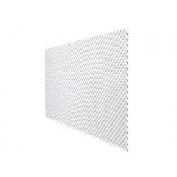 Pack de 6 celosía de PVC 18 mm 1x2 m color blanco