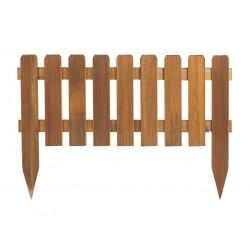 Bordura fija de madera 110x45cm.