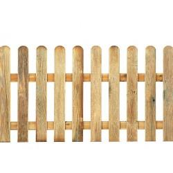 Valla clásica de madera de pino