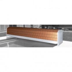 Cubierta automática QP con banco de madera sin escalera
