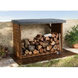 Leñero exterior madera 140 x 100 cm