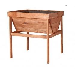 Mesa de cultivo huerto urbano madera de pino Germin 70