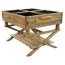 Huerto urbano Seedbox con altura regulable 80 x 60 x 100 cm